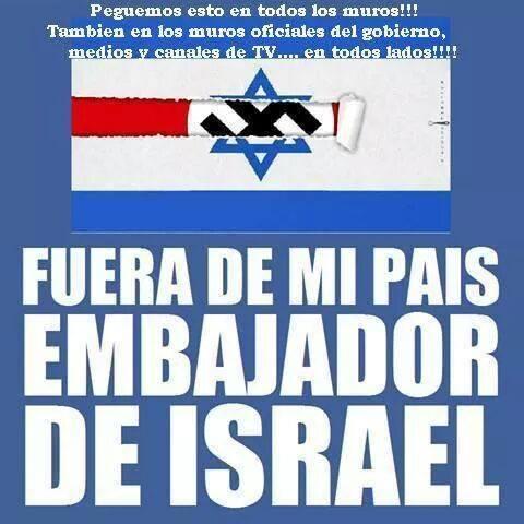 FueraEmbajadorIsraeli