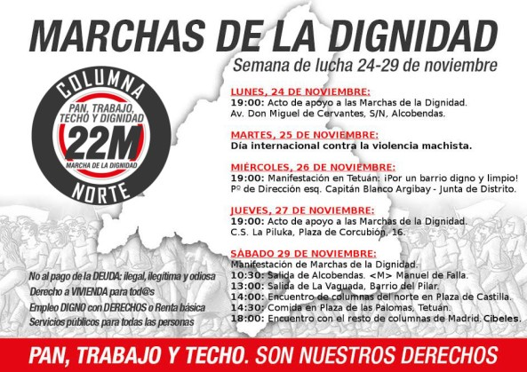 cartel semana lucha Coordinadora norte N